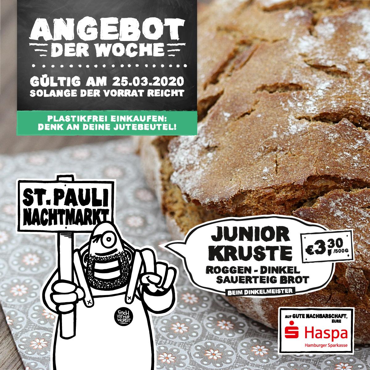 Das Angebot der Woche: Junior Kruste, Roggen-Dinkel Sauerteig Brot, 500g 3,30€