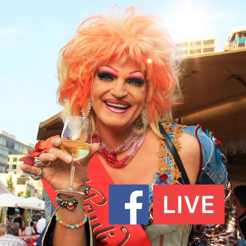 Olivia Jones kürt den St. Pauli Weinkönig. Wir streamen live auf Facebook!