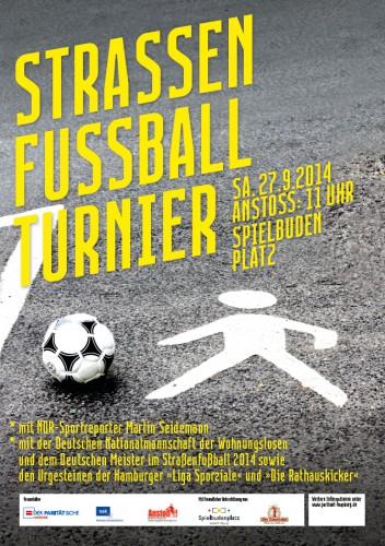 Fußballturnier-Plakat