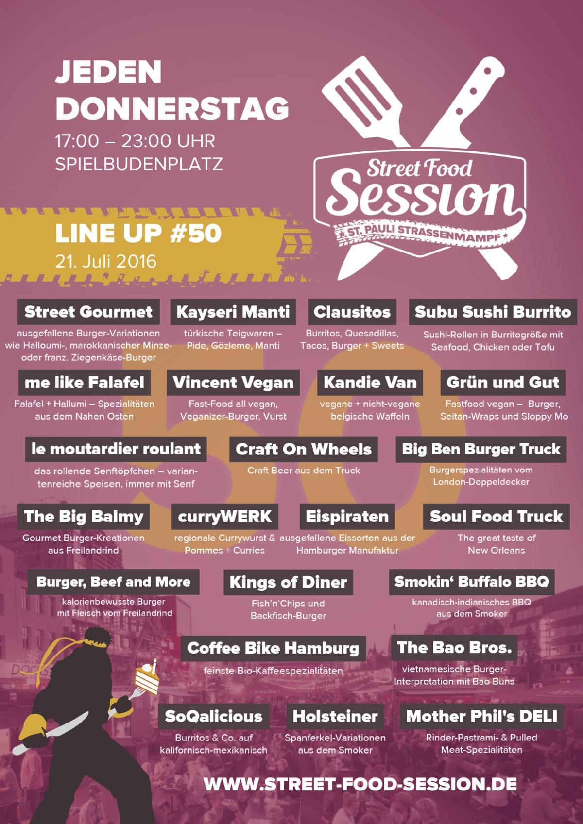 Line Up Street Food Session 2016-50 (21.07.)