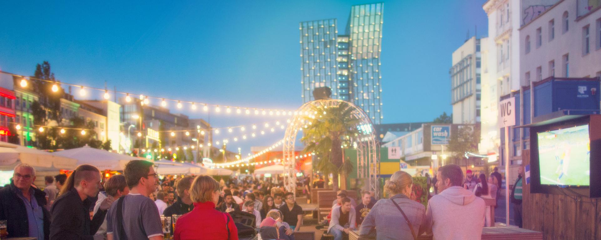 Der Sommer auf St. Pauli – EM Biergarten