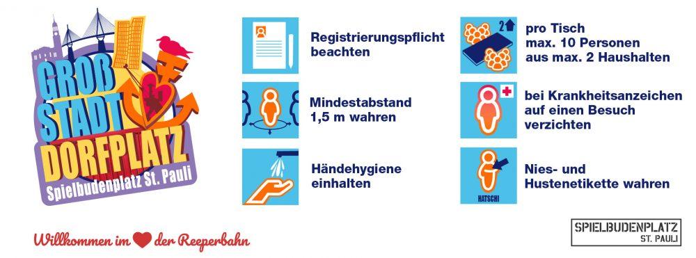Corona-Regeln Großstadtdorfplatz SASP